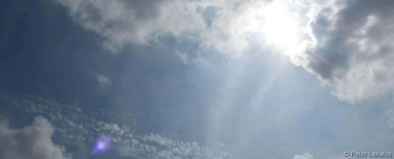 Himmel über der Ruder Regatta Strecke in Oberschleißheim/Feldmoching