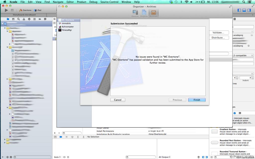 App wurde von Xcode erfolgreich an iTunes Connect geschickt