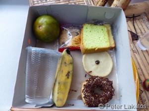 Der Inhalt einer Kuchenbox