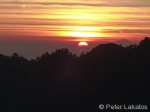 Der Sonnenuntergang war spektakulär
