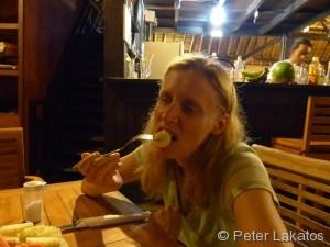 Beatrice schmeckt die Banane