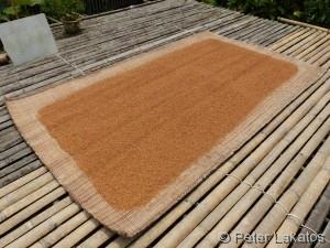 Reis beim Trocknen