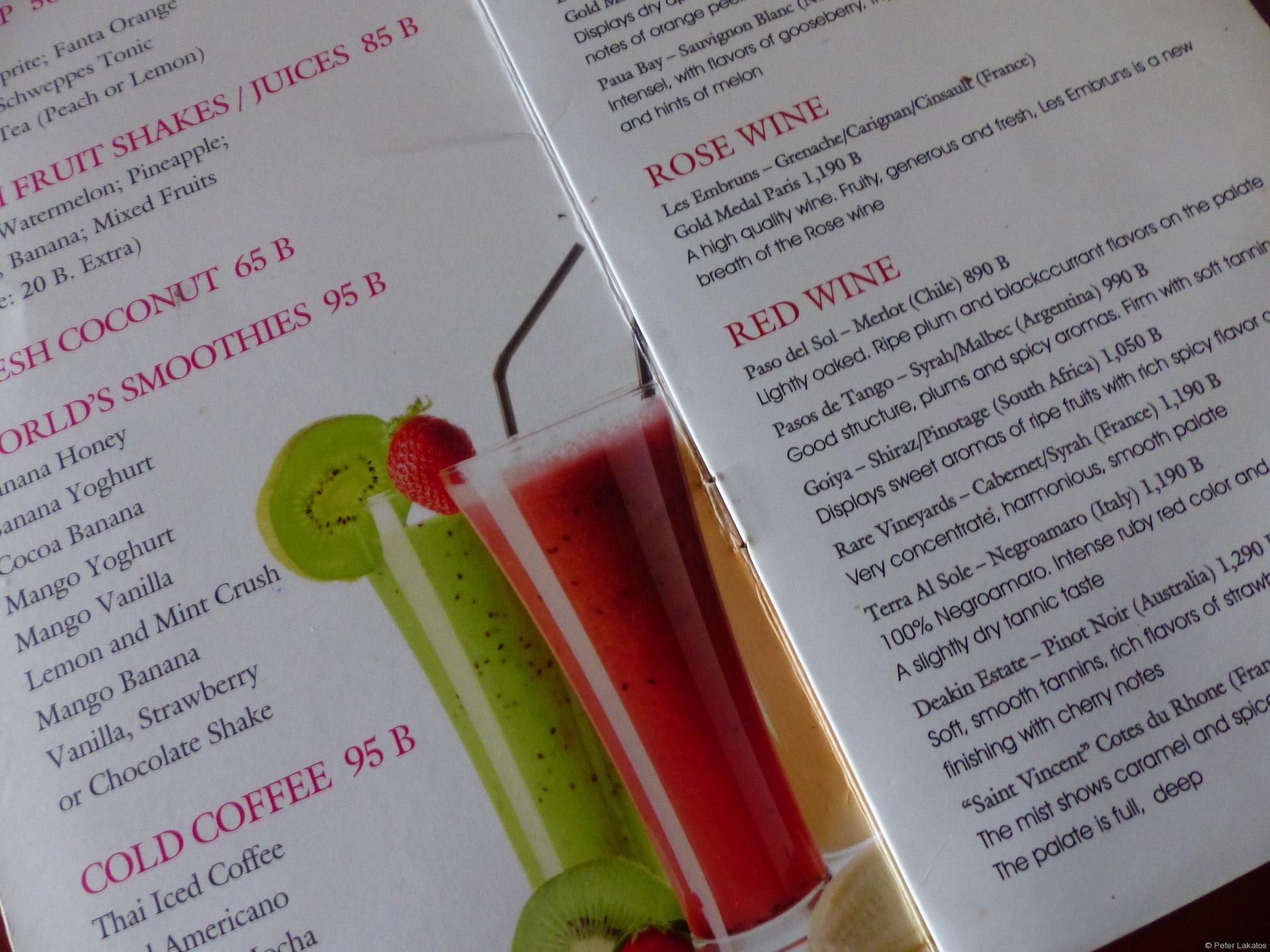 Preise für Cocktails auf Koh Samui