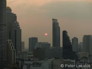 Sonnenuntergang in Bangkok
