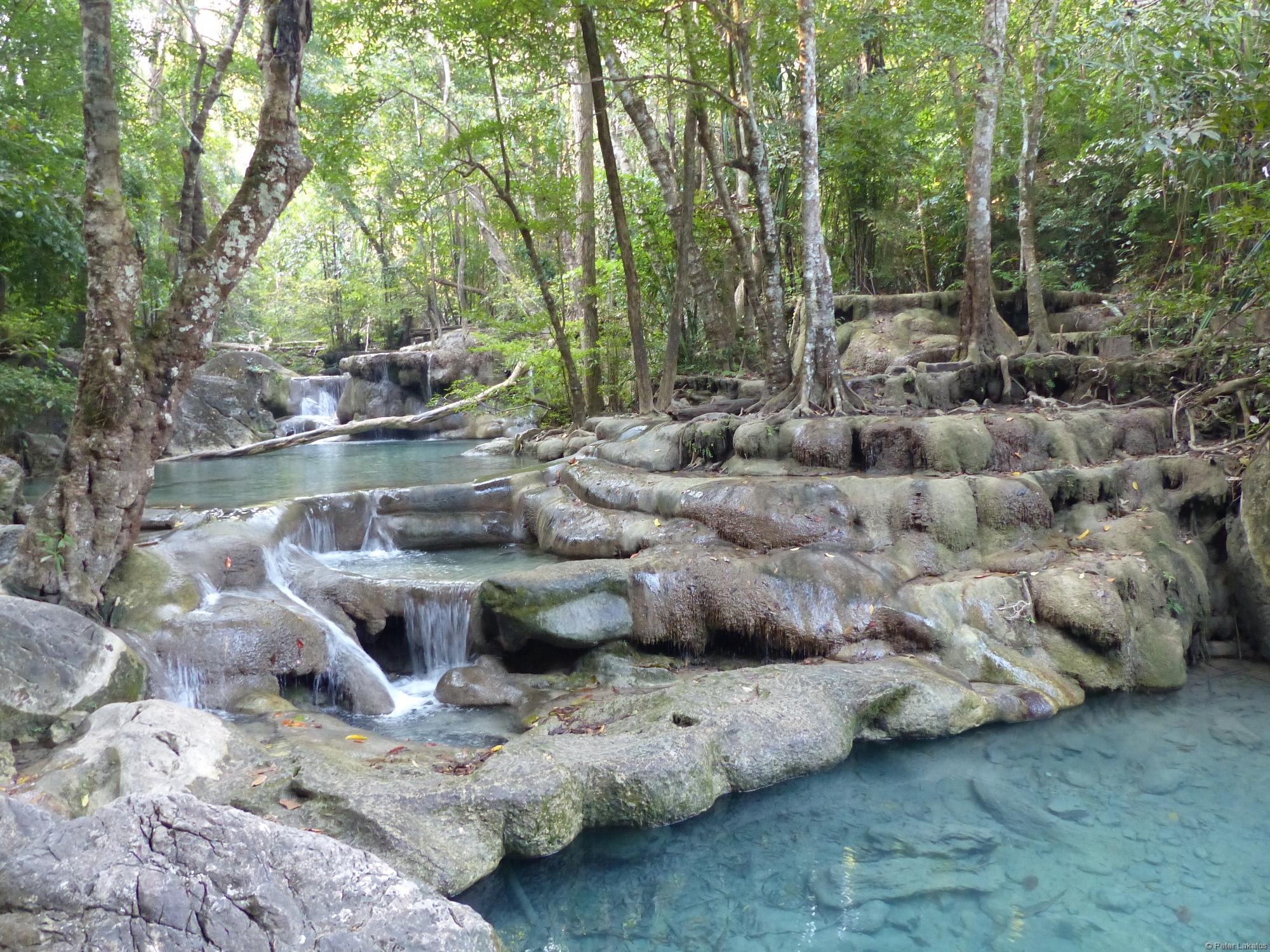 Erawan Wasserfall wie gemalt