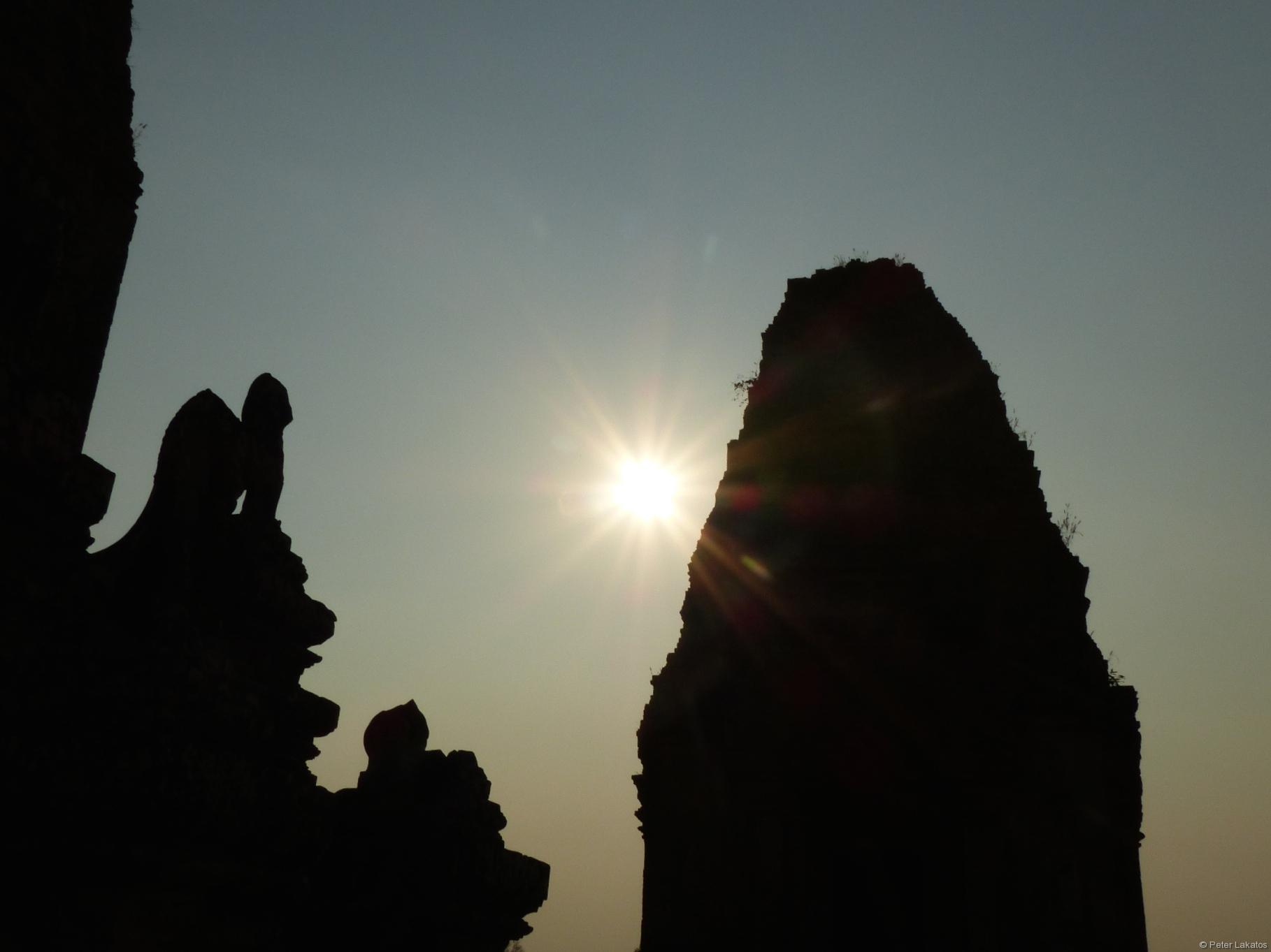 Auch beim Sonnenuntergang waren wir nicht alleine...
