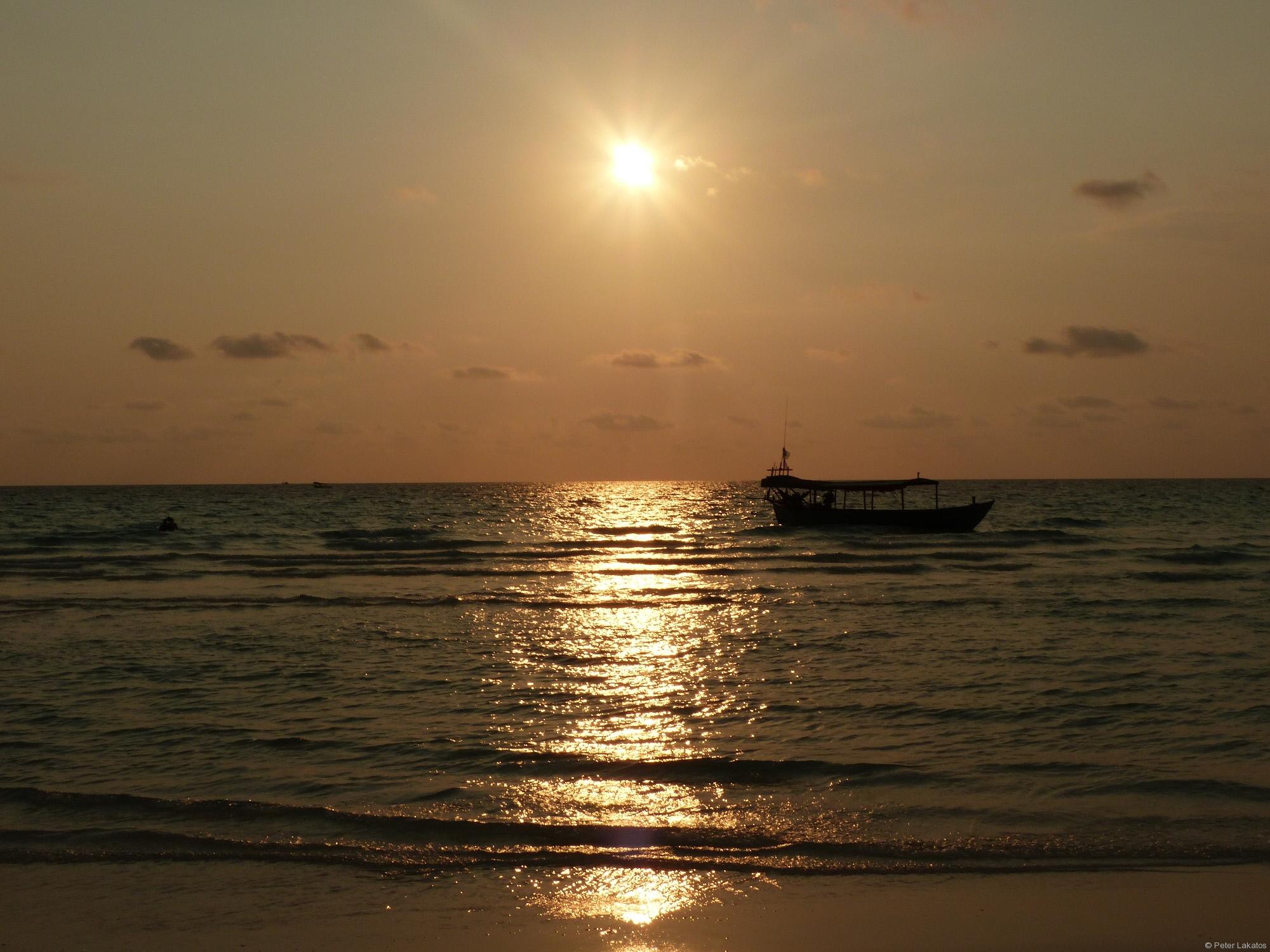 Sonnenuntergang am Longbeach