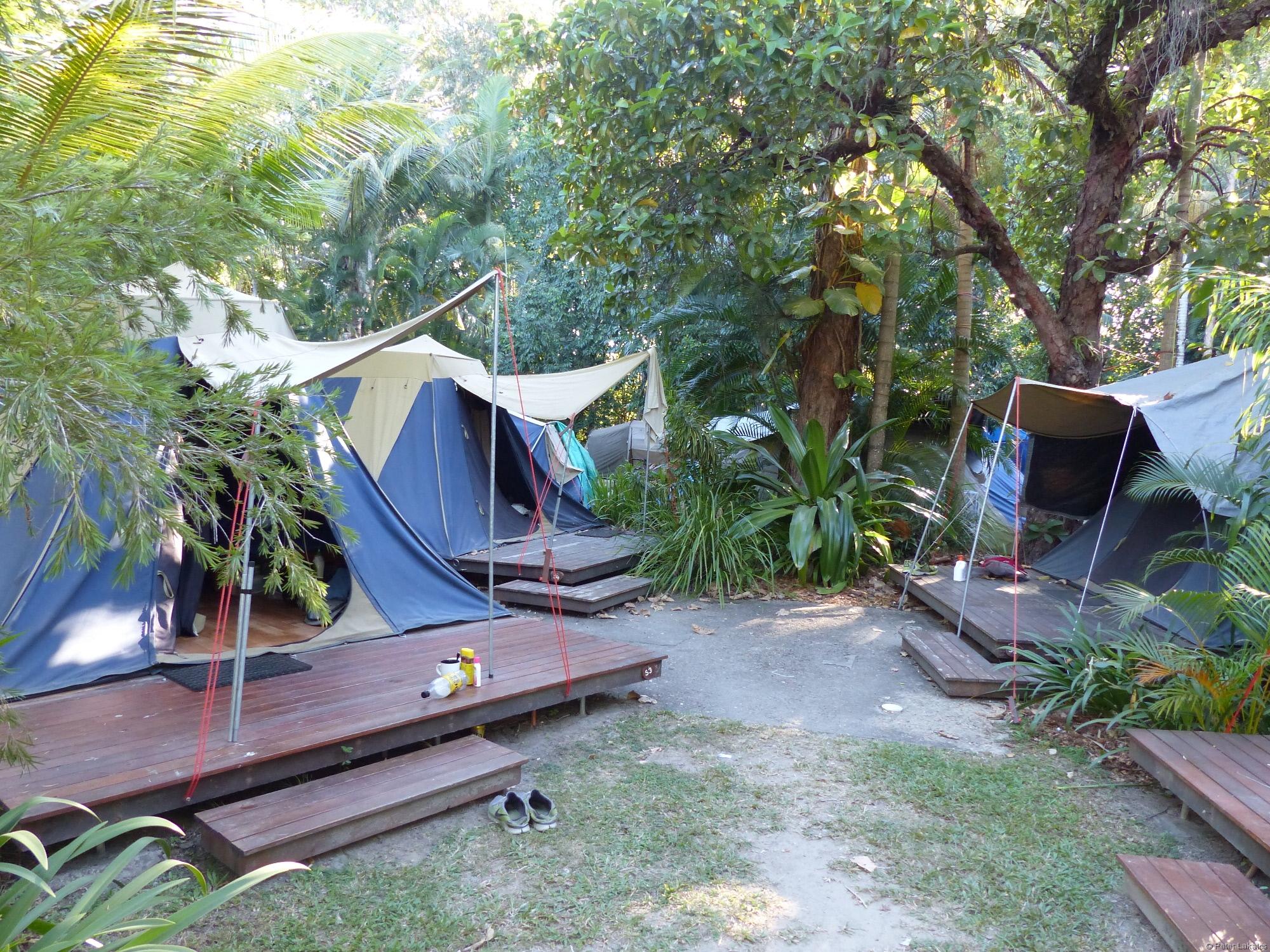 Unterkunft im Zelt
