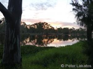 Campingplatz am Fluss