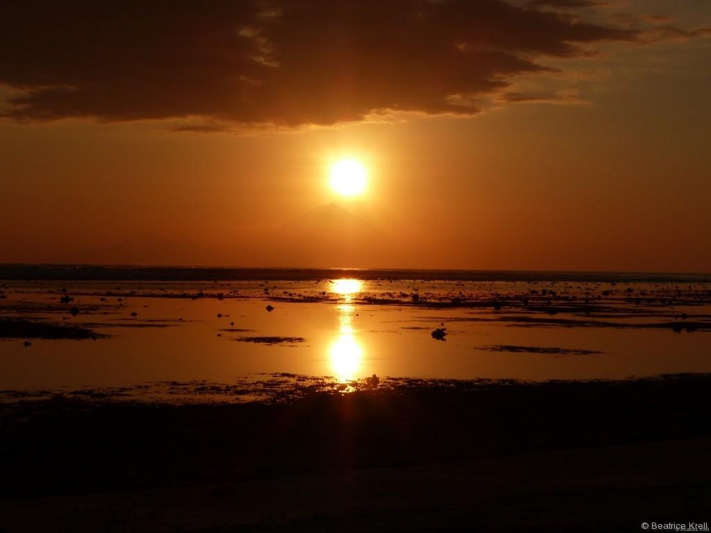 Letzter Sonnenuntergang auf Gili Trawangan für uns