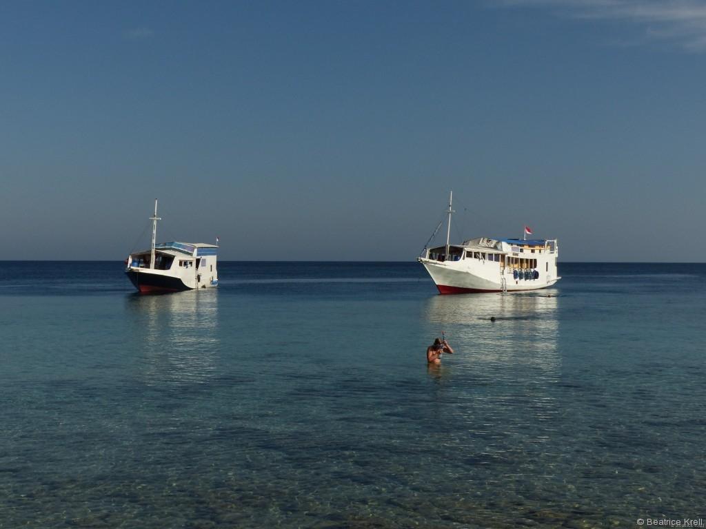 Die beiden Boote für die Touristen des Komodo-Touri-Trips
