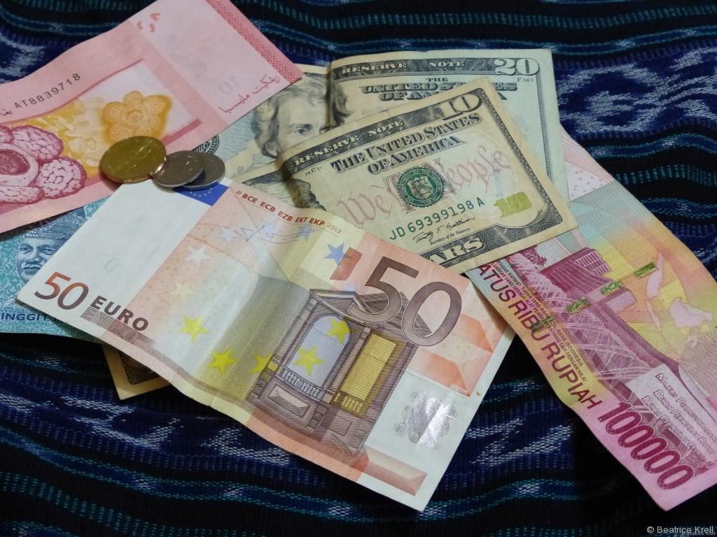 Geld in verschiedenen Währungen