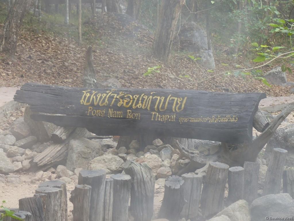 Unsere erste heiße Quelle in Asien zum Baden: Pong Nam Ron