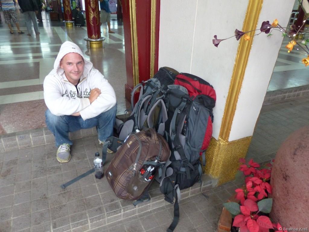 Einer der Zwischenstops unserer Odysee war der Bahnhof in Chiang Mai