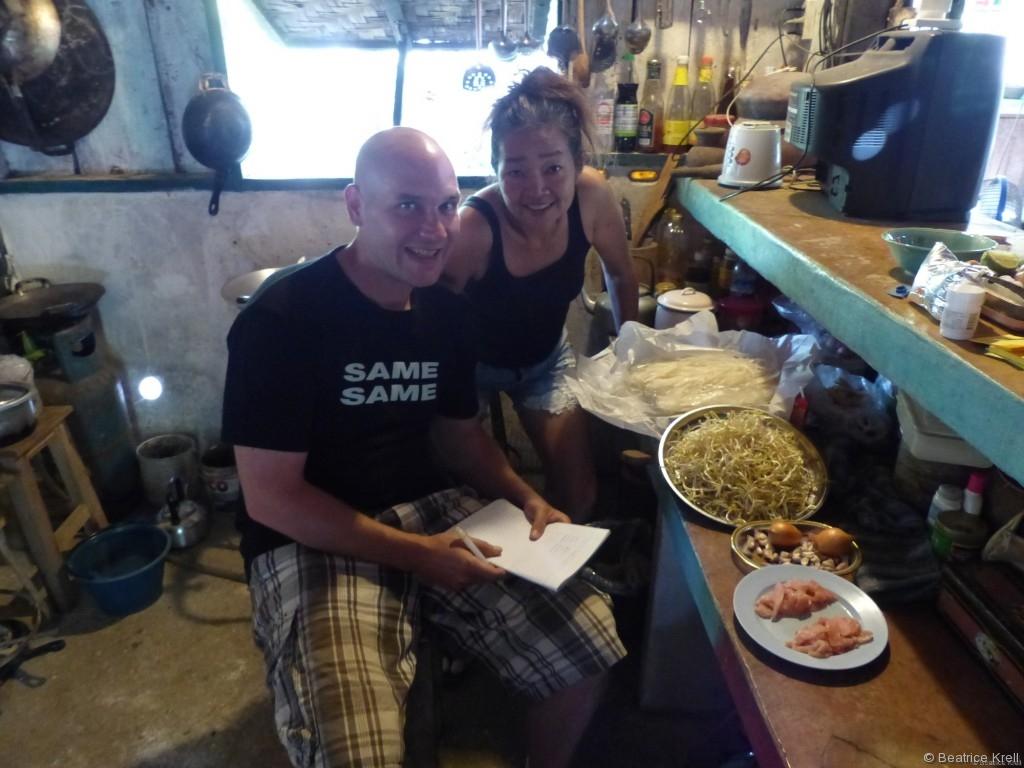 In der zweiten Kochrunde lernten wir noch Pad Thai kochen.