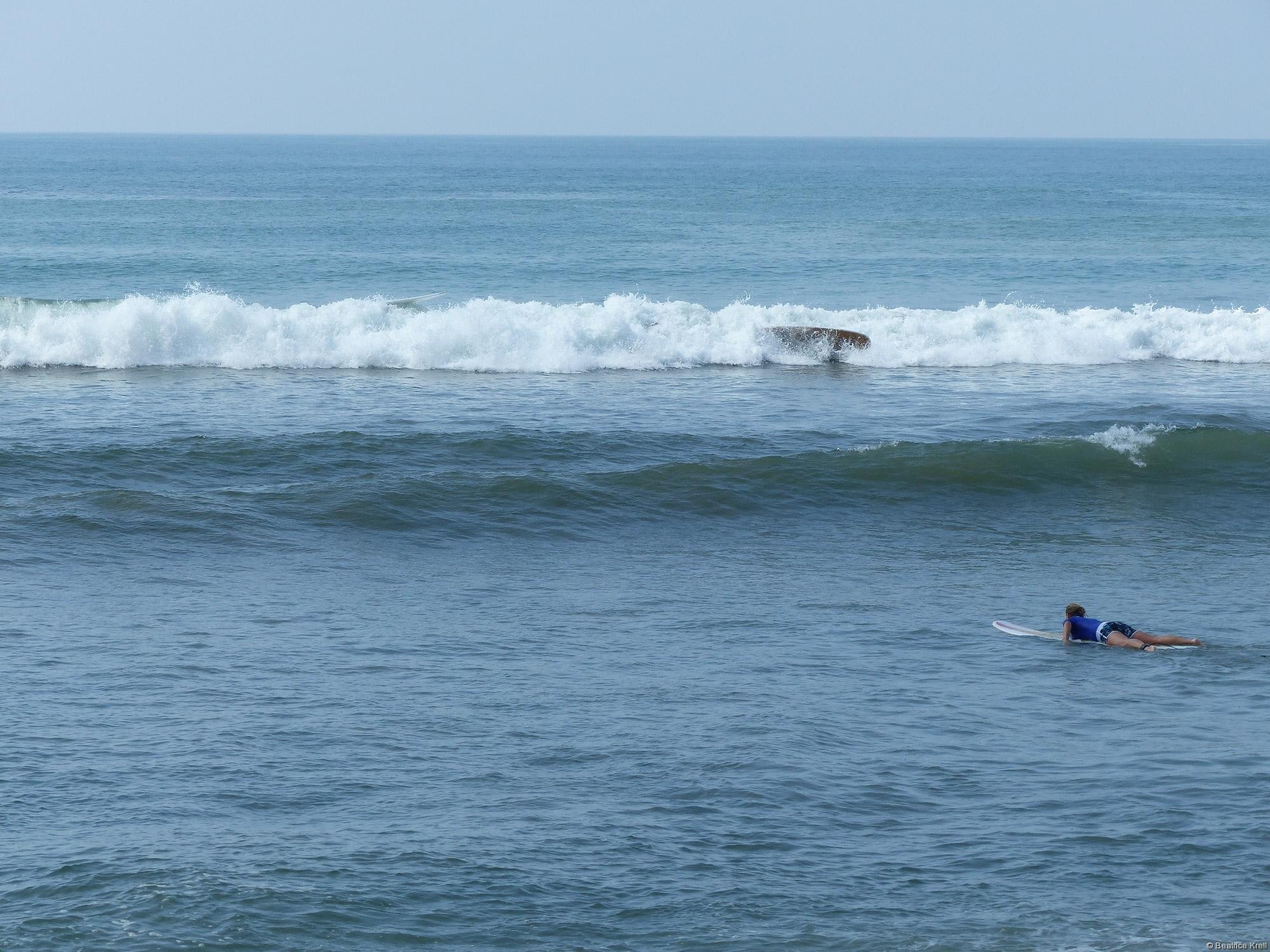 Mißlungener Surfversuch