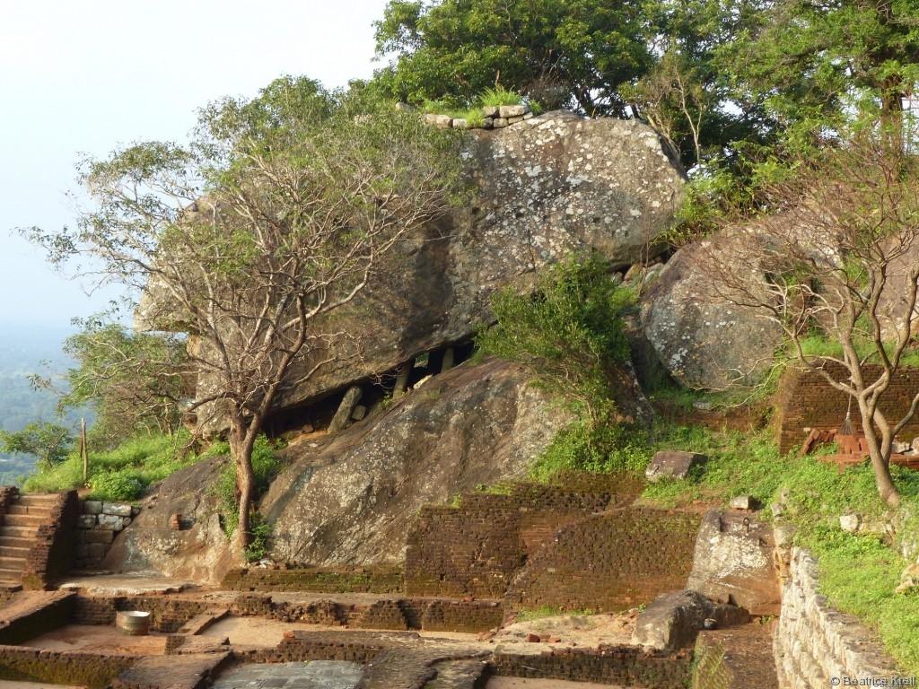 Verteidigungsanlagen in Sigiriya