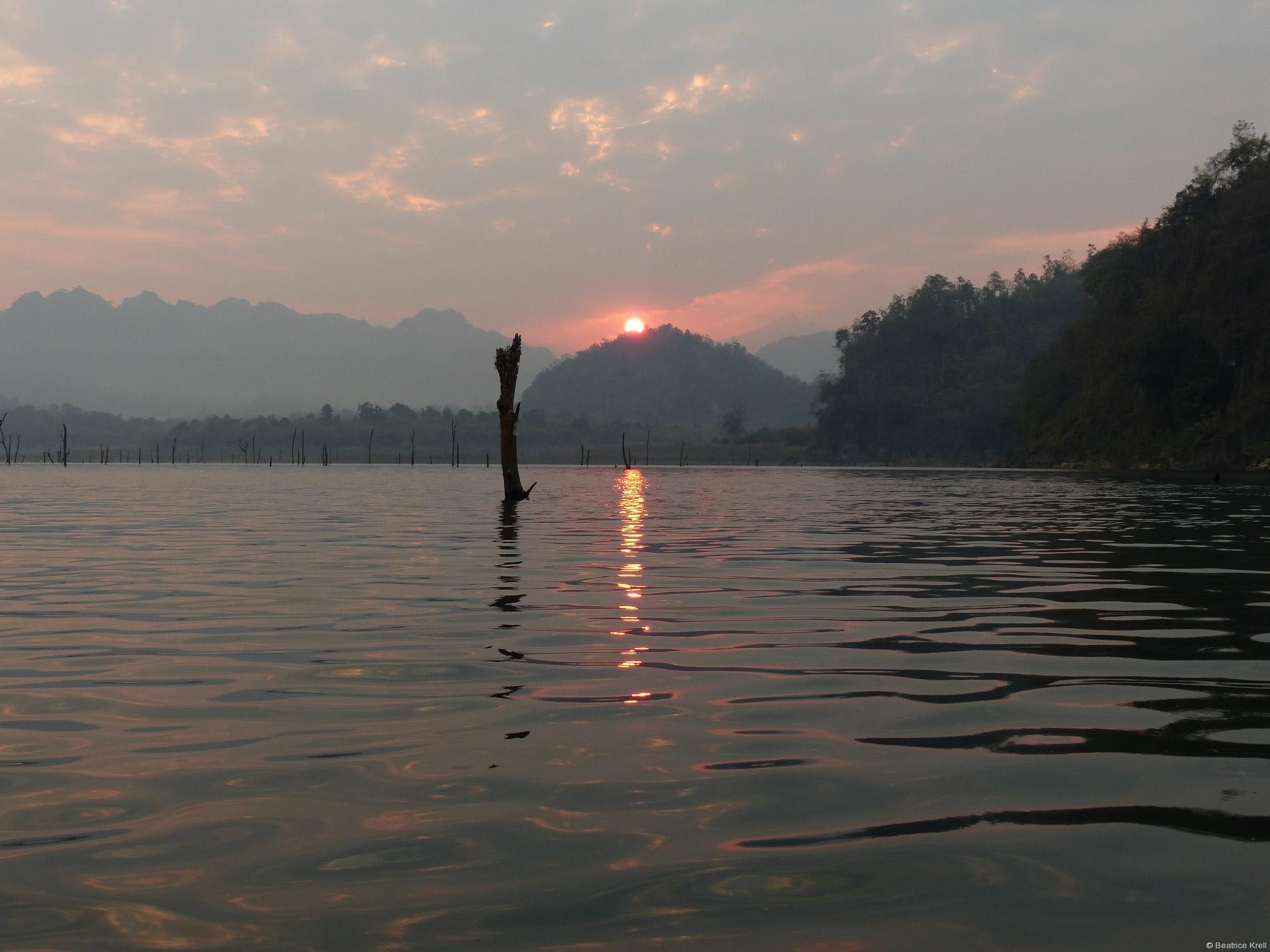 Der wunderschöne Sonnenaufgang ...