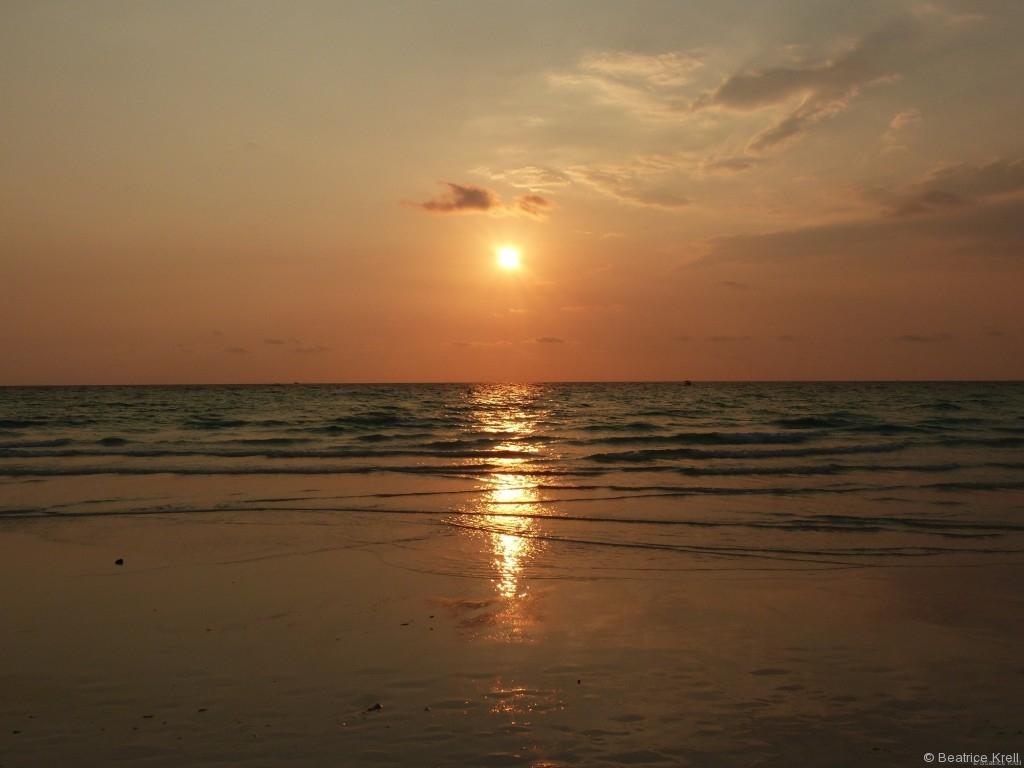 Die Sonnenuntergänge kann man vom Long Beach aus bewundern.