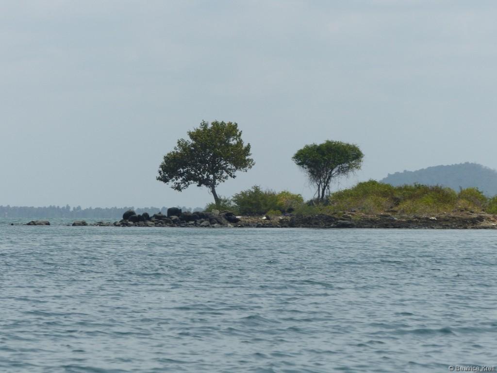Eine wunderschöne, kleine Insel vor Kep in Kambodscha