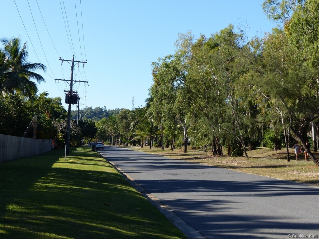 In australischen Städten sind selbst die Nebenstraßen breit und alles sieht aus wie geschleckt.