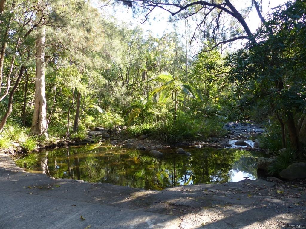 Australien hat wirklich sehr schöne Campingplätze zu bieten, ...