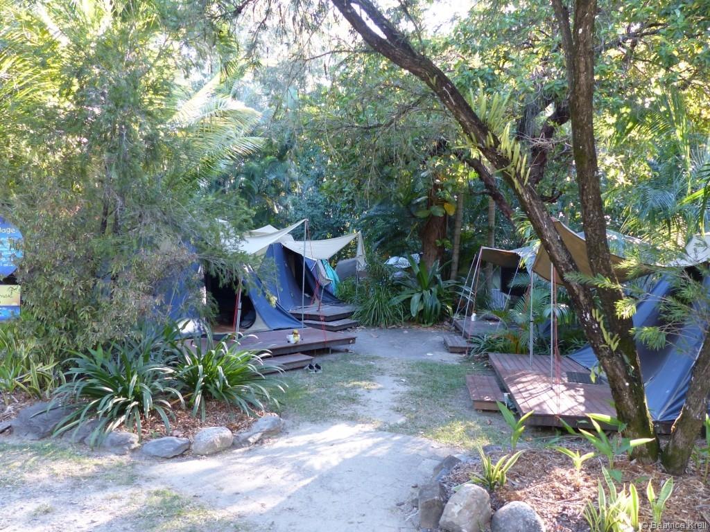 ... denn unser Stylie-Zelt war nicht die allergünstigste Unterkunft.