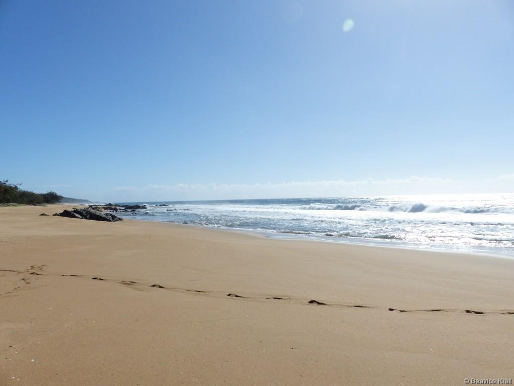 Der Strand war wie immer wunderschön und wenig bevölkert.
