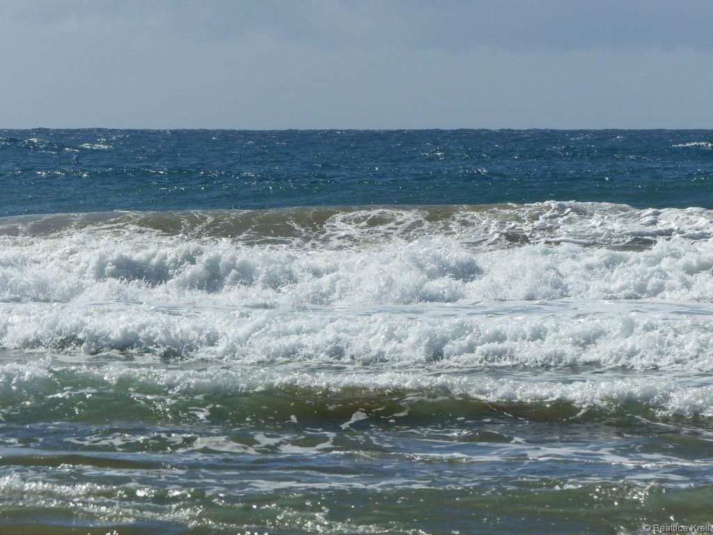 Die Wellengischt war für einen Anfänger wirklich beeindruckend.