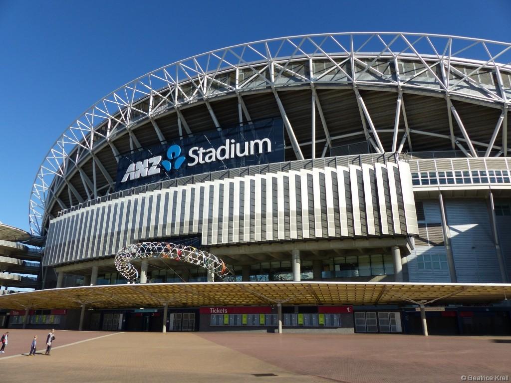 Die olympischen Anlagen in Sydney haben wir uns angeschaut ...
