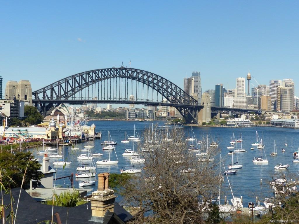 ... und natürlich die Sydney Harbour Bridge.