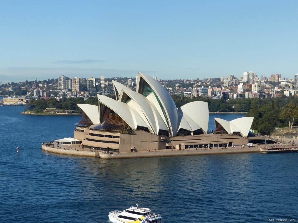 Das Sydney Opera House durfte natürlich auf der Besichtigungstour auch nicht fehlen.