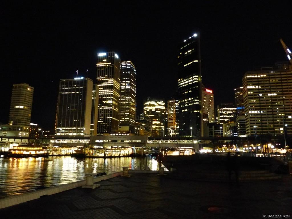 Sydney bei Nacht darf man natürlich auch nicht verpassen.
