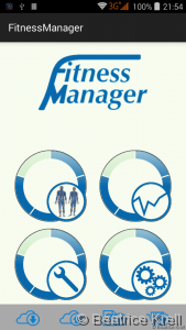 Fitness Manager start screen
