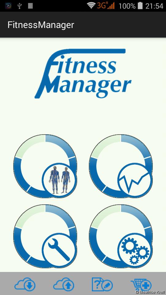Fitness Manager start screen