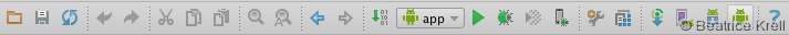 AVD-Manager in Android Studio Toolbar
