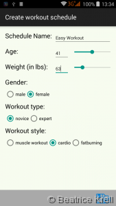 Mobile form for Android device