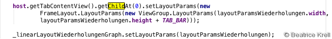 TabContent LayoutParams definition